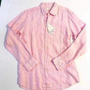 Uniqlo Men's Pink Linen shirt size L